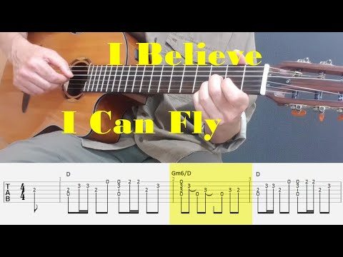 I Believe I Can Fly - R. Kelly - Fingerstyle guitar with tabs