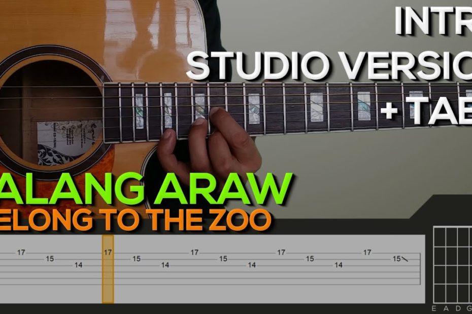 I Belong To The Zoo - Balang Araw Guitar Tutorial [INTRO + TABS]