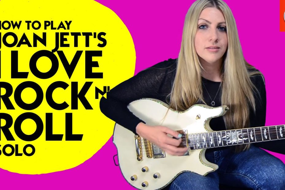 I love Rock and Roll Guitar Lesson - How to Play Joan Jett's I love Rock N' Roll Solo