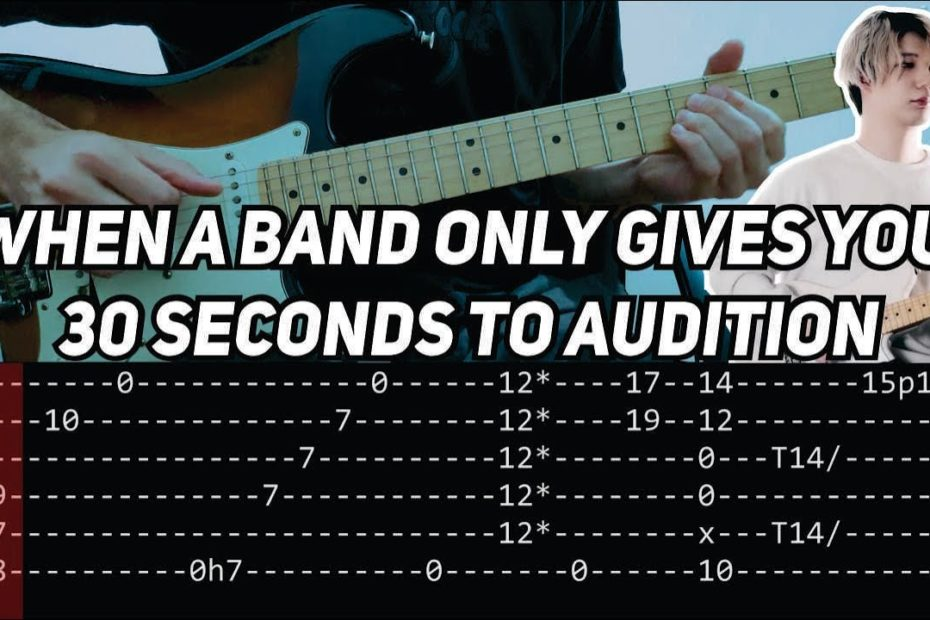 Ichika Nito - 30 Seconds Band Audition Riff (Guitar lesson with TAB)