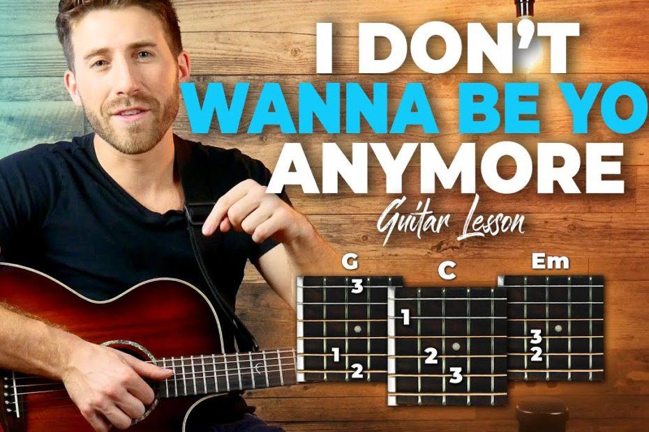 idontwannabeyouanymore Guitar Tutorial (Billie Eilish) Easy Chords Guitar Lesson