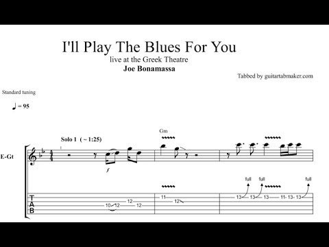 I'll Play The Blues solo TAB - live - blues guitar solo tabs (Guitar Pro)