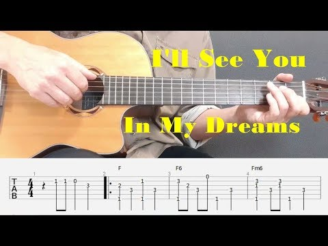 I'll See You In My Dreams - Fingerstyle guitar with tabs