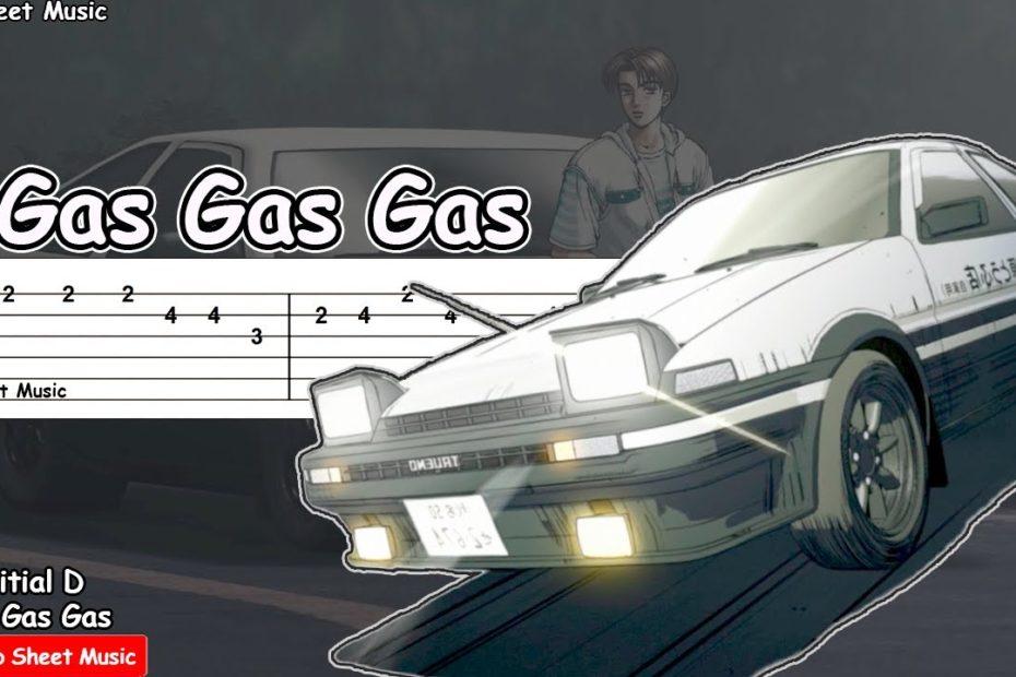 Initial D - Gas Gas Gas Guitar Tutorial