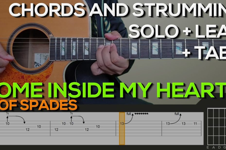 IV of Spades - Come Inside of my Heart Guitar Tutorial [SOLO, LEAD, CHORDS AND STRUMMING + TABS]