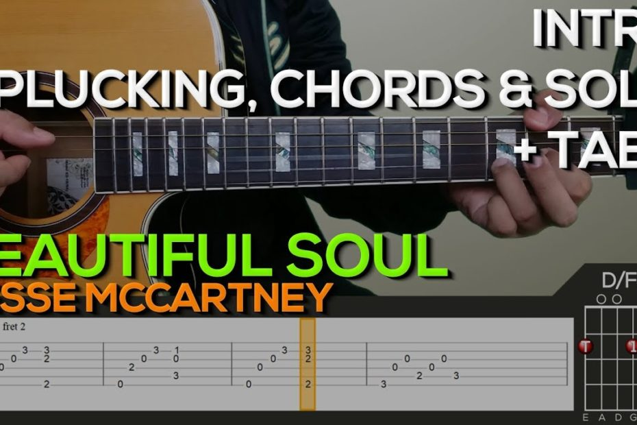 Jesse McCartney - Beautiful Soul Guitar Tutorial [INTRO, PLUCKING, CHORDS AND STRUMMING WITH TABS]
