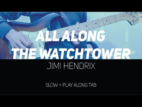 Jimi Hendrix - All along the watchtower solos (Guitar lesson with TAB)
