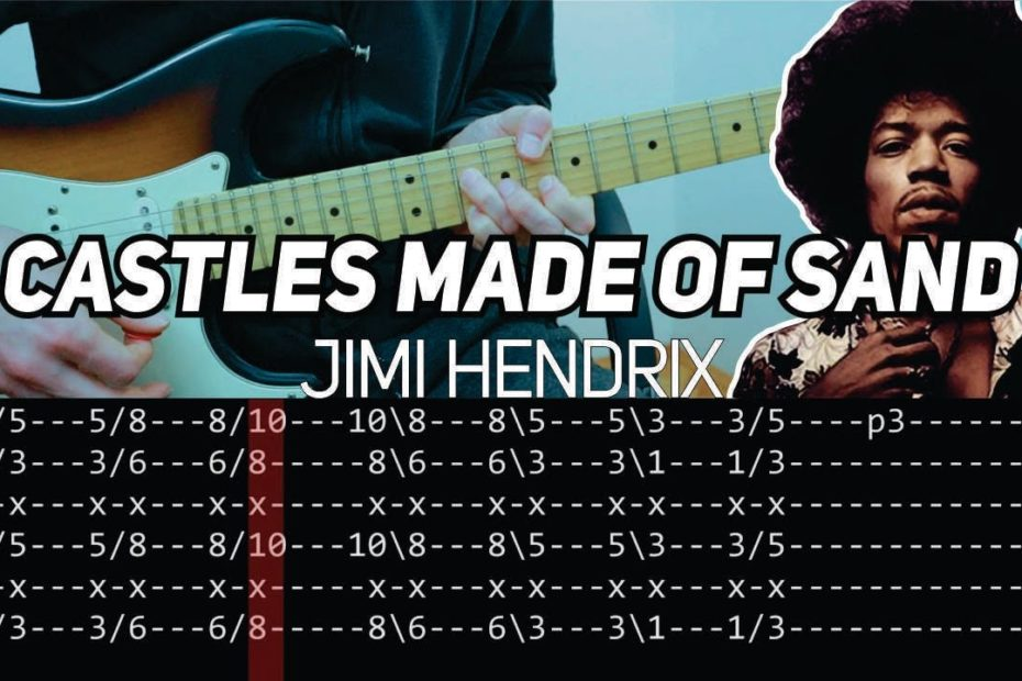 Jimi Hendrix - Castles Made of Sand (Guitar lesson with TAB)