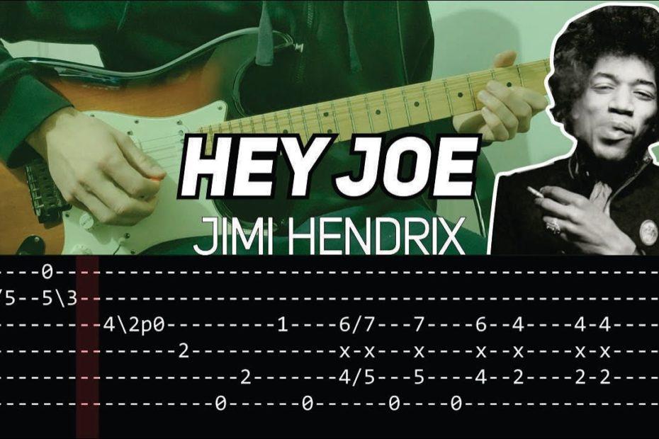 Jimi Hendrix - Hey Joe (Guitar lesson with TAB) - FULL SONG