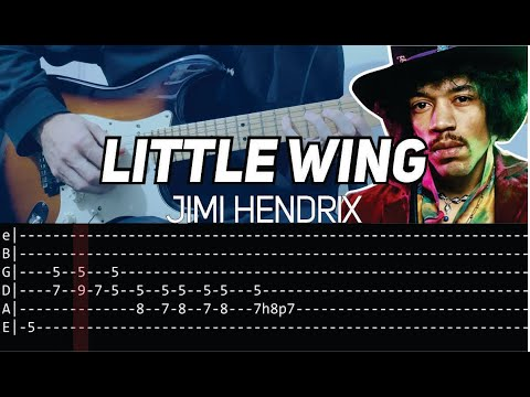 Jimi Hendrix - Little Wing (Guitar lesson with TAB) - FULL SONG