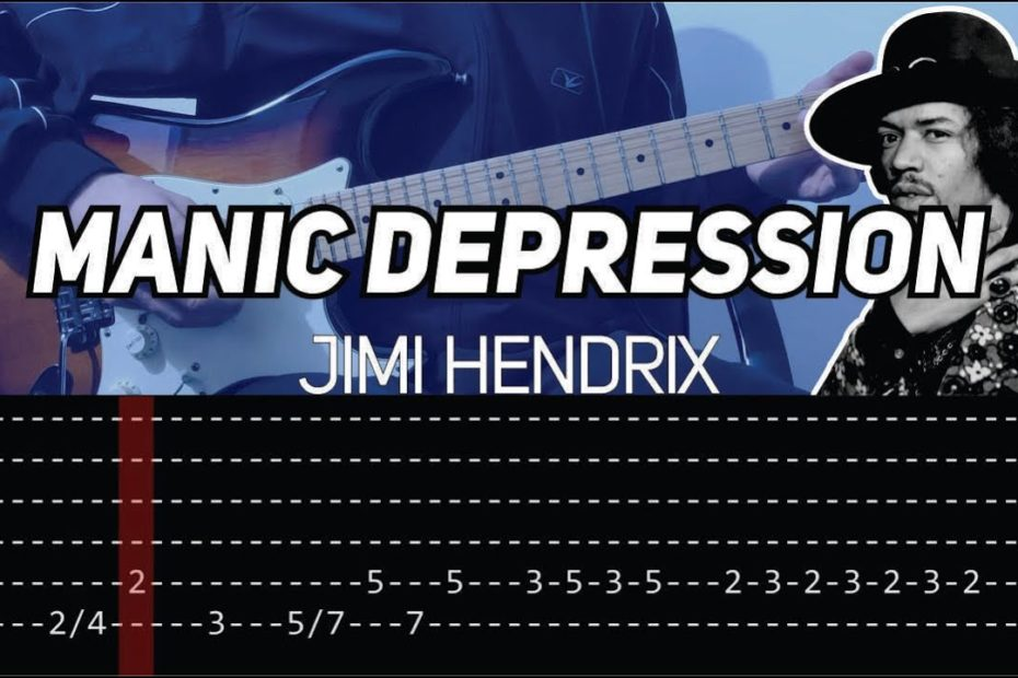 Jimi Hendrix - Manic Depression (Guitar lesson with TAB)