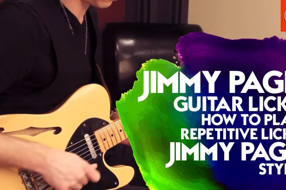 Jimmy Page Guitar Licks - How to Play Repetitive Licks Jimmy Page Style