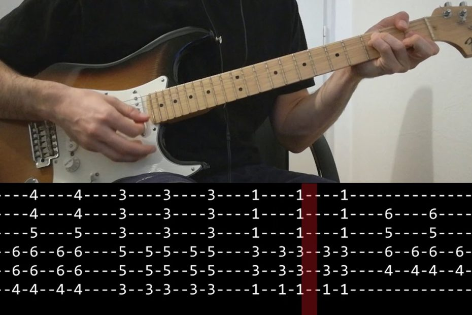 John Frusciante - How deep is your love (Guitar lesson with TAB)