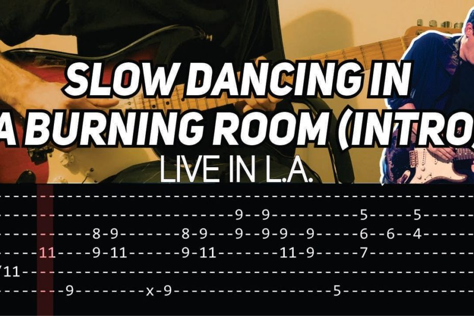 John Mayer - Slow Dancing In a Burning Room Intro - Live in LA (Guitar lesson with TAB)