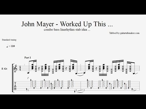 John Mayer - Worked Up This Combo Bass Line ... TAB - PDF - Guitar Pro