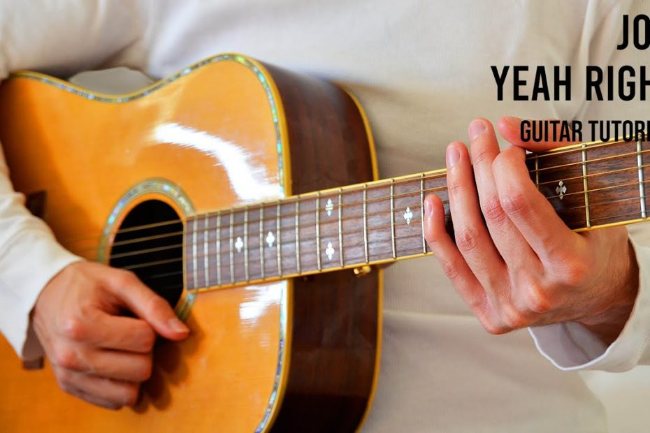 Joji – Yeah Right EASY Guitar Tutorial With Chords / Lyrics
