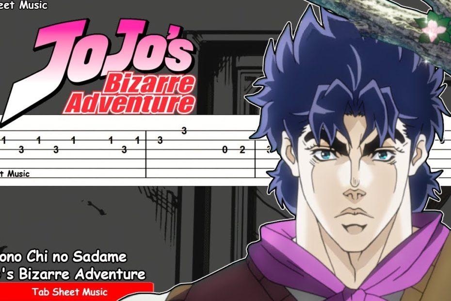 JoJo's Bizarre Adventure OP 1 - Sono Chi no Sadame Guitar Tutorial