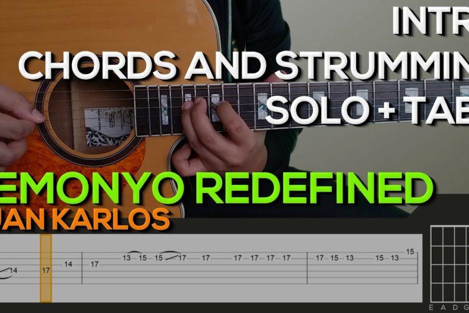Juan Karlos - Demonyo Redefined Guitar Tutorial [INTRO, SOLO, CHORDS AND STRUMMING + TABS]