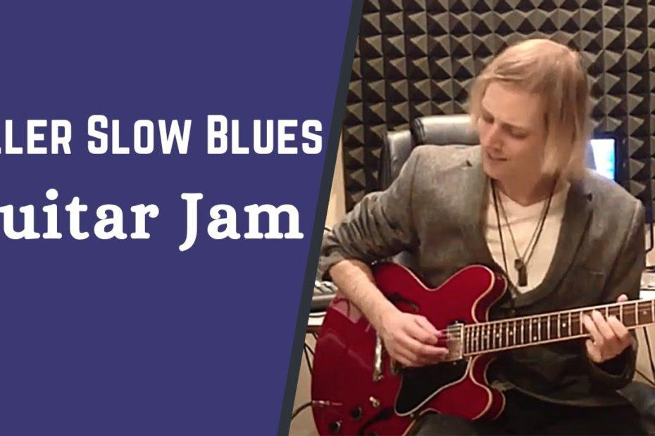 Killer Slow Blues Guitar Jam - Blues Guitar Improvisation w/ Jon Maclennan