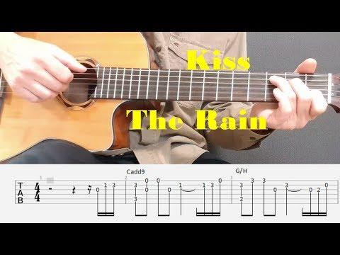 Kiss The Rain - Yiruma - Fingerstyle guitar with tabs