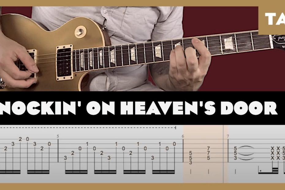 Knockin' on Heaven's Door Guns N' Roses Cover | Guitar Tab | Lesson | Tutorial