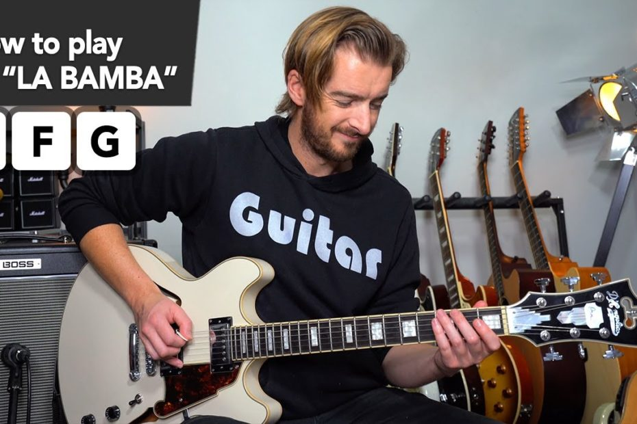 LA BAMBA MADE SIMPLE!! guitar lesson tutorial // EASY RIFFS how to play for beginners