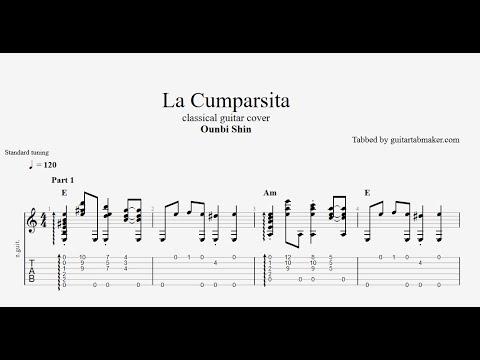 La Cumparsita TAB - fingerstyle classical guitar tabs (PDF + Guitar Pro)