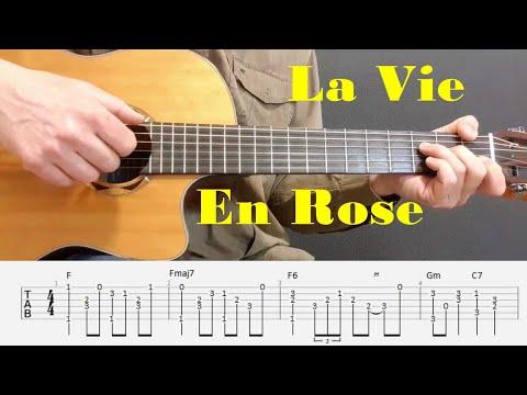La Vie En Rose - Edith Piaf - Fingerstyle guitar with tabs