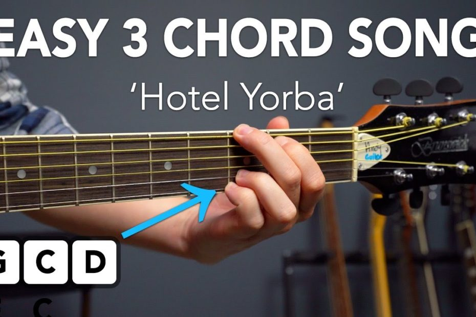 """Learn """"Hotel Yorba"""" by The White Stripes for Beginner Acoustic Guitar!"""