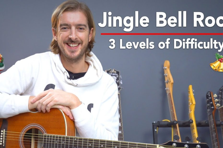 Learn to Play JINGLE BELL ROCK - 3 Levels of Difficulty