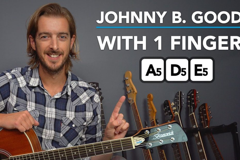 """Learn to play """"Johnny B Goode"""" in 10 MINUTES - Easy guitar tutorial for total beginners"""