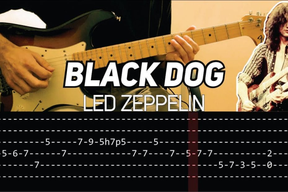 Led Zeppelin - Black Dog (Guitar lesson with TAB)