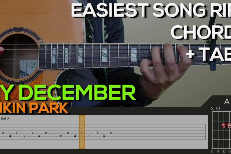 Linkin Park - My December Guitar Tutorial [RIFF AND CHORDS + TABS][EASIEST SONG RIFF]