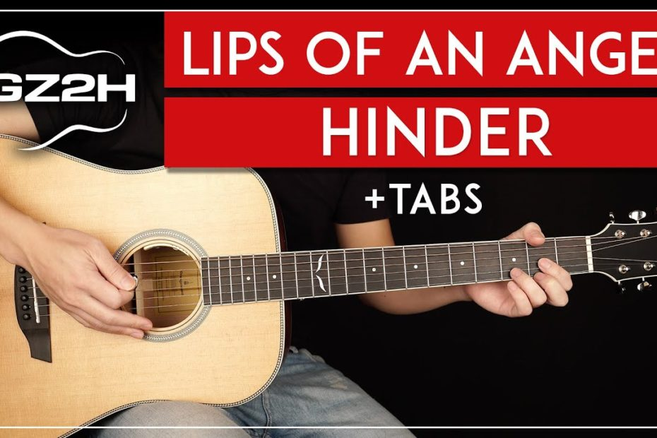 Lips Of An Angel Guitar Tutorial Hinder Guitar Lesson |Standard Tuning & Studio Tuning + Solo|