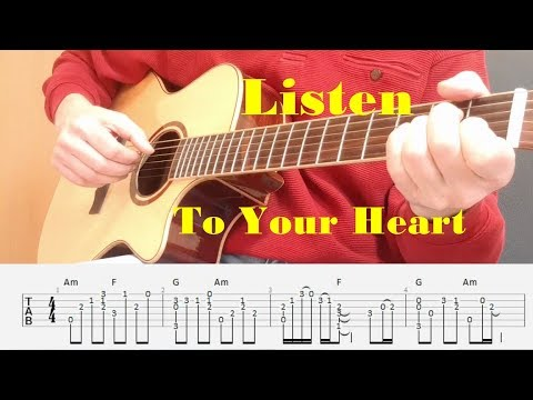 Listen To Your Heart - Roxette - Fingerstyle guitar with tabs