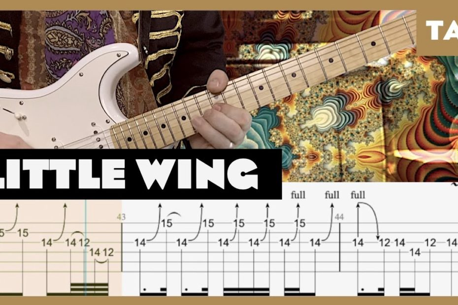 Little Wing Jimi Hendrix Cover | Guitar Tab | Lesson | Tutorial