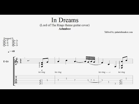 Lord of the Rings - In Dreams TAB - electric guitar tab - PDF - Guitar Pro