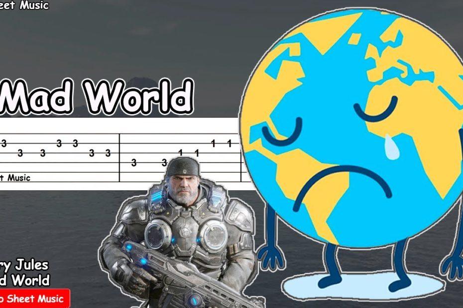 Mad World - Gary Jules (Gears of War) Guitar Tutorial