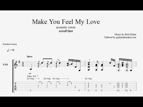 Make You Feel My Love TAB - acoustic guitar tab (PDF + Guitar Pro)