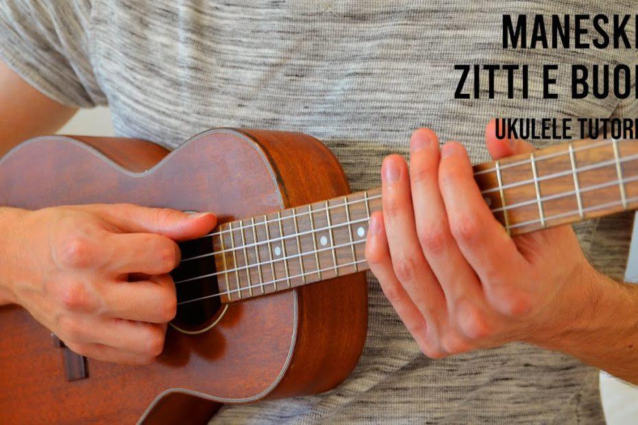 Måneskin - ZITTI E BUONI EASY Ukulele Tutorial With Chords / Lyrics
