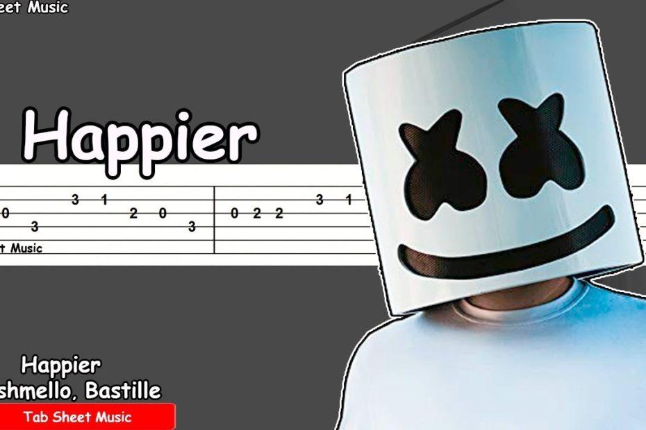 Marshmello ft. Bastille - Happier Guitar Tutorial
