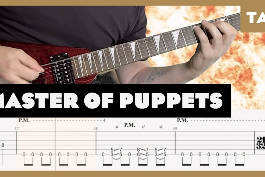 Master of Puppets Metallica Cover   Guitar Tab   Lesson   Tutorial