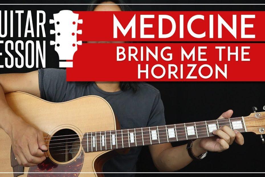 Medicine Guitar Tutorial - Bring Me The Horizon Guitar Lesson   TABS + No Capo + Guitar Cover 