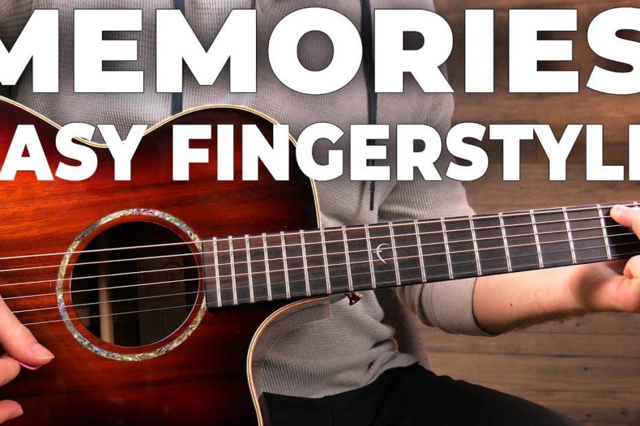 Memories - Maroon 5 | EASY Fingerstyle Guitar Lesson (Tutorial)