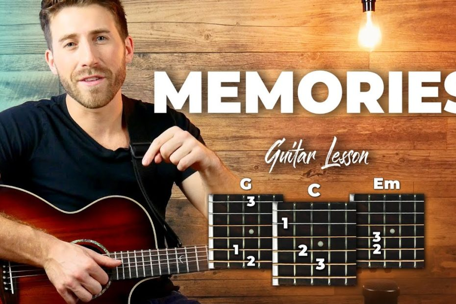 Memories - Maroon 5 Guitar Tutorial (Lesson) For Beginners // Easy Chords