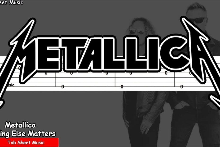 Metallica - Nothing Else Matters Guitar Tutorial