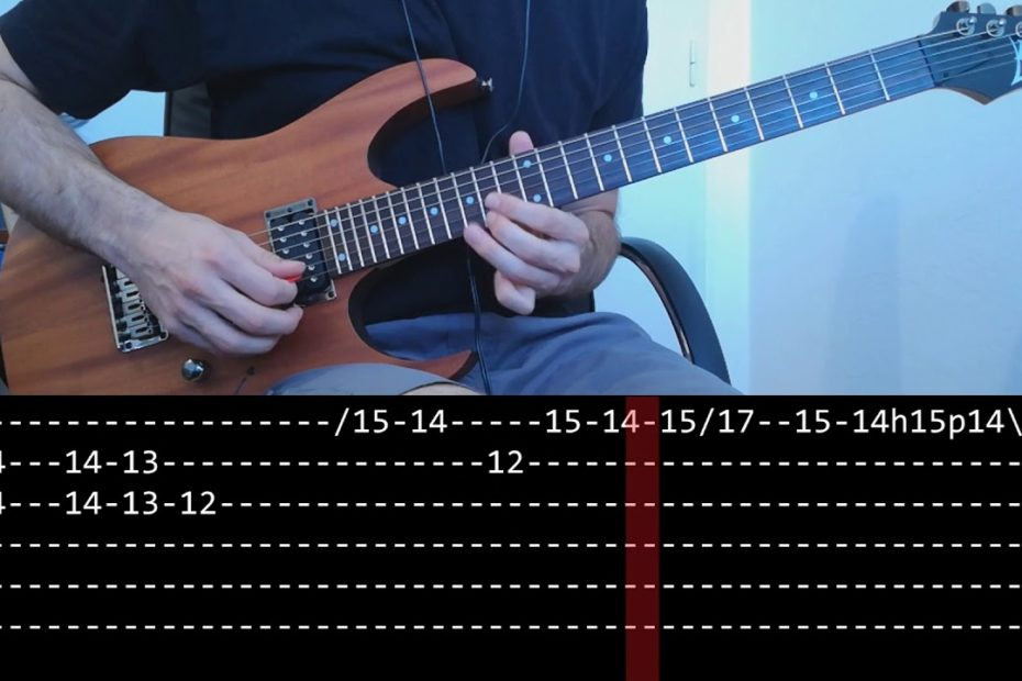 Metallica - Nothing Else Matters solo (slow + Play along Tab)