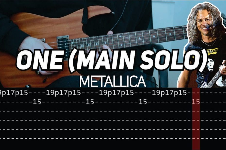 Metallica - One 'main solo' (Guitar lesson with TAB)