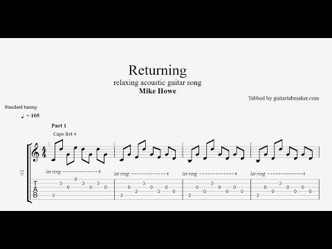 Mike Howe - Returning TAB - relaxing guitar tabs (PDF + Guitar Pro)