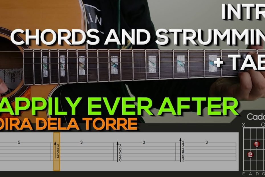 Moira Dela Torre - Happily Ever After [INTRO & CHORDS] Guitar Tutorial with (TABS on SCREEN)